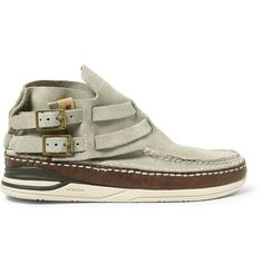 Visvim - Mesa Moc-Folk Suede and Leather Sneakers
