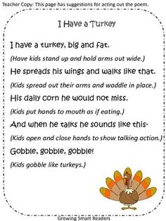 Turkey Poem (FREE)