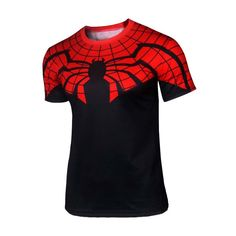 Black Red - Spider Man Compression Shirt