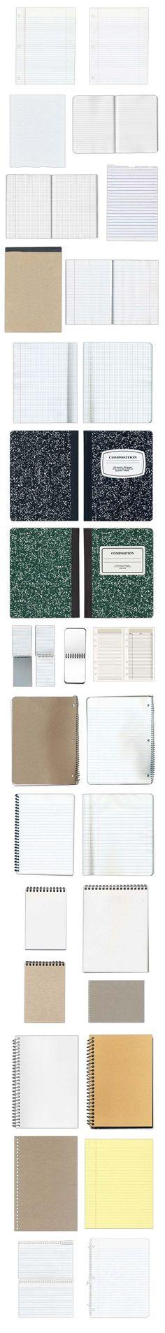 lots of free notepad and notebook textures / papiers à carreaux divers gratuits
