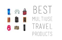 Save space in your suitcase with these travel products that serve two or more purposes at once.