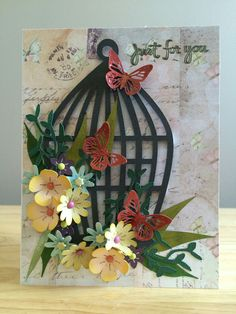 3D flowers and cage cut on cricut