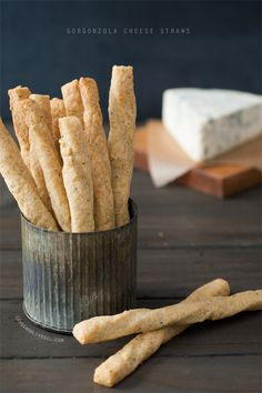 Cheez-Its for grown ups? These Gorgonzola Cheese Straws are a perfect game-day snack.