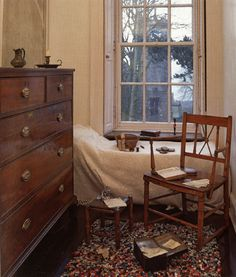 Emily Brontë's room, Haworth parsonage....their rooms appeared to be as small as closets!