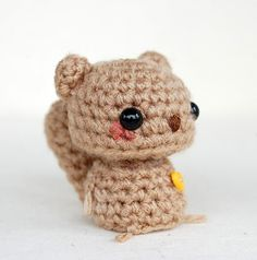 Kawaii Brown Squirrel by twistyfishies. #Amigurumi #Animals