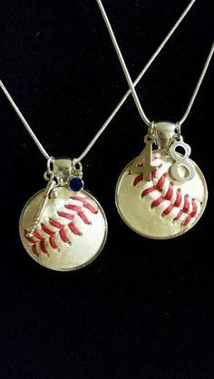 Baseball pendants with number charms like us on facebook at baseball pendants with number charms like us on facebook at frandee creations sports pinterest aloadofball Gallery