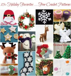 Free Christmas Crochet Patterns - Christmas is by far my favorite crafting season and with all the free holiday patterns on Craftsy my head is swirling with inspiration and possibilities! And today I have rounded up over 15 of my holiday favorites with these Free Christmas Crochet Patterns on Craftsy, sure to get you in the festive spirit of the season! I've got you covered from everything to sweet angels, to charming reindeer, to home decor accents. Click here to see them all and get the…