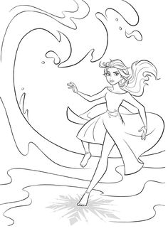 Frozen 2 free coloring pages with Elsa Frozen Coloring Sheets, Sailor Moon Coloring Pages, Kids Printable Coloring Pages, Family Coloring Pages, Frozen Coloring Pages, Barbie Coloring Pages, Cute Coloring Pages, Animal Coloring Pages, Coloring For Kids