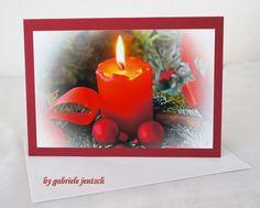 """Weihnachtskarte Karte Weihnachten """"Kerze"""" von PHOTOGLÜCK auf DaWanda.com"""