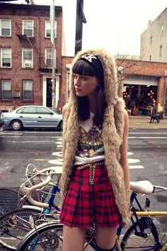 FW14 #Todomoda #BrooklynWinter ▶ Rock Beanie + #CoolCats T-Shirt. Model: Léticia Orchanheski, ONE Models Management.