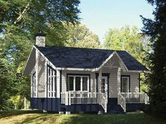 072H-0187: Tiny House Plan Works Well as an In-Law Cottage