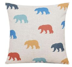Geometric Bear - Pillow Cover