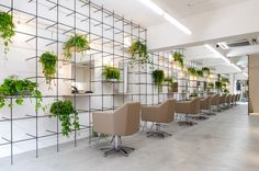 Re:Sono por Yamazaki Kentaro, Peluquería integra un jardín vertical para inspirar