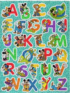 Vintage Sandylion Giant 7 X 9 1 4 Stickers Sheet Alphabet Stickers Sticker Sheets Mickey Mouse And Friends
