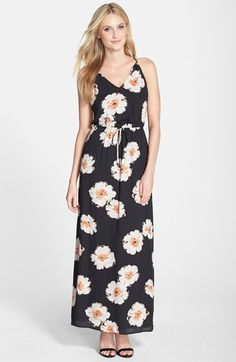 Ivanka Trump Floral Print Georgette Maxi Dress available at #Nordstrom #Southbaygalleria