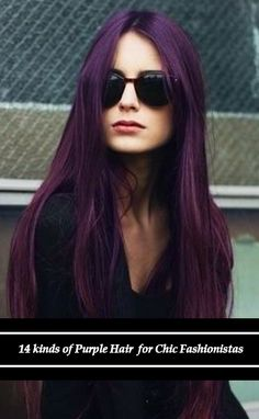 Hair Color to Try: Marvelous Purple Hair for Chic Fashionistas Hair# My hair is actually purple right now! Love Hair, Great Hair, Gorgeous Hair, Hair Color Purple, Fun Hair Color, Plum Purple, Hair Colors, Corte Y Color, Hair Affair