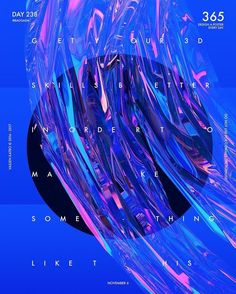 Baugasm™ Series - Design a poster with an Abstract iridescent effect Graphic Design Posters, Graphic Design Inspiration, Typography Design, Graphic Art, Poster Designs, Layout Design, Design Art, Print Design, Design Graphique