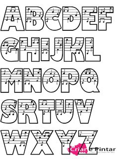 Music alphabet - properly aligned, it might be possible to write a little tune within a name...