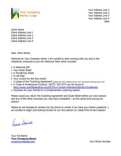 Coaching Agreement Contract TEMPLATE (Sample)   Pinterest   Confused ...