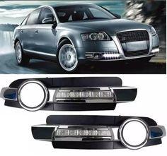 Luz de circulación diurna LED Para Audi A6L Lámpara Conducción DRL Niebla 2005-2008 06