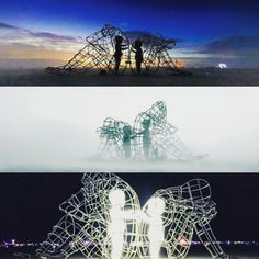 Maurizio Cattelan Love Saves Life Trapped Pinterest - Thought provoking burning man sculpture shows inner children trapped inside adult bodies