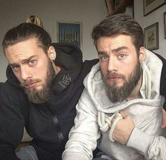 "7,041 Likes, 54 Comments - BEARD AND TATTOOS (@beardandtattoos_) on Instagram: ""Bearded Brothers. ______ -Models: @den_____den & @blizanac93 ______ Tag us to be featured!! ✔…"""