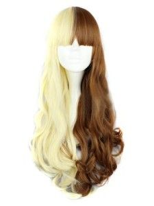 Cosplay/Party Wig - Long Curly Heat Resistant Synthetic Blonde Mixed Brown Wig