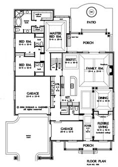 long narrow lot house plans. First Floor Plan of The Suwanee  House Number 1198 great for a Floorplan Carrera 1178 house with mud room walk