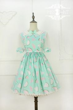 Miss Point -Sweet Watermelon- Lolita Short Sleeves OP Dress
