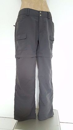 The North Face Pants Size 10 Zip Off Shorts Gray Nylon Hiking Convertible Womens #TheNorthFace #CasualPants
