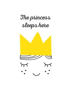 Printable, The princess sleeps here with a girls face and a golden crown, word art print. FEATURES: * Instant wall decor * Scalable high-quality prints * No physical prints * Frame is not included * No shipping fees * Custom sizes are free SIZES: * All files are in JPG, RGB, 300DPI *5x 7,