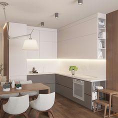 36 Stylish Open Dining Room And Kitchen Layout Design Ideas Kitchen Room Design, Bathroom Interior Design, Kitchen Interior, Kitchen Decor, Layout Design, Küchen Design, Design Ideas, Kitchen Layout Plans, Diy Kitchen Storage
