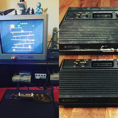 By xander308: So happy got a free Atari cleaned it up and now it's working wonderfully #atari #atari2600 #retrogaming #atari2600 #micrhobbit