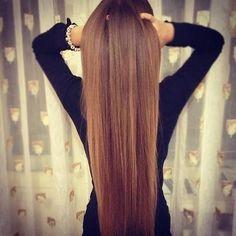 Pin straight hair.