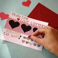 Making a lottery-inspired scratch-off Valentine is an easy way to put a fun spin on a handmade Valentine for your significant other. The added element of mystery before they discover their winnings will have butterflies fluttering in your Valentine's stomach. Spoiler alert: Everyone wins![WATCH THE VIDEO TUTORIAL...