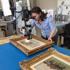 Before An Exhibition Is Installed In The Getty Museum Galleries, Every Work  Of Art Is Closely Examined By Our Conservators. Here, Paper Conservator  Michelle ...