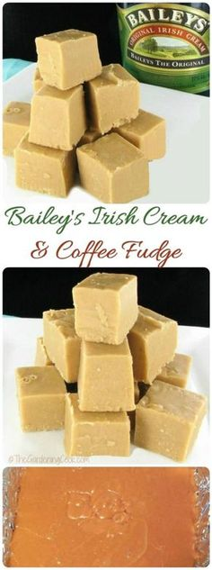 This Bailey's Irish Cream & Coffee fudge is the perfect sweet treat for your holiday table. It is delicious and so easy to make, too. Get the taste of Bailey's Irish cream in a piece of holiday fudge, for the ultimate in Christmas sweet treats. Delicious Fudge Recipe, Best Fudge Recipe, Delicious Desserts, Delicious Chocolate, Brownie Desserts, Köstliche Desserts, Asian Desserts, Plated Desserts, Bonbon