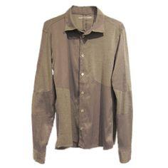 zero - Symmetric Cut Stretch Shirt / Gray - 30,900JPY