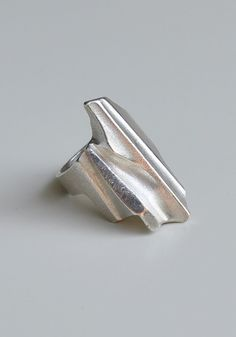 Lapponia Sterling Silver Ring Shuttle Bjorn Weckstrom Finland  by NordicJewels on Etsy >> vintage Scandinavian modernist jewelry