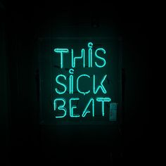 The 'This Sick Beat' Neon Sign in the VIP Room!