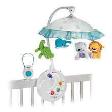 Fisher-Price 2-In-1 Precious Planet Projection Mobile -- Our favorite features are the remote control and 3 different sound types: heartbeat, nature, and classical music.