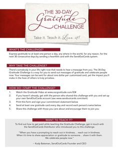 gratitude journal, to use while taking the challenge