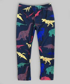 Look at this Black Dinosaur Leggings - Infant on #zulily today!