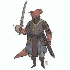a lizardmun dnd commish  -  -  -  -  #dnd #illustration #fantasy #characterdesign #roleplay #tabletop #drawingoftheday #costumedesign #art #digitalart #conceptart #comics