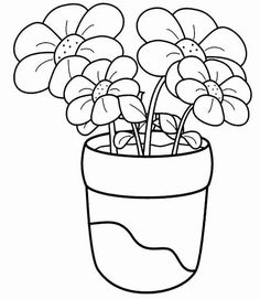 Flower Coloring Pages Preschool Luxury Flower Coloring Pages Printable Flower Coloring Pages, Preschool Coloring Pages, Easy Coloring Pages, Coloring Books, Free Coloring, Outline Drawings, Easy Drawings, Rangoli Border Designs, Floral Drawing