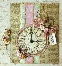 Smart and Beautiful: Postcard with clock - Master Class
