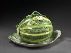 Sugar bowl with cover and stand   Longton Hall porcelain factory   ca. 1755-60.