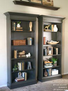Rustic Reclaimed Wood Bookshelf Makeover Old Laminate