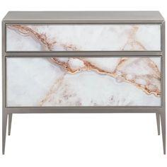 A Real Gem Bedside Table | Caracole | LuxDeco.com Bedside Table Design, Bedside Tables, Wall Lights, Ceiling Lights, Contemporary Classic, Bath Linens, Gems, Interior Design, Luxury
