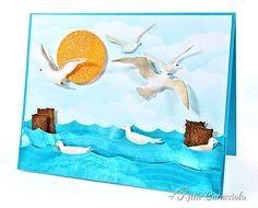 Love the shaded 3d Sea Birds-  from: Things That Fly by kittie747 - Cards and Paper Crafts at Splitcoaststampers
